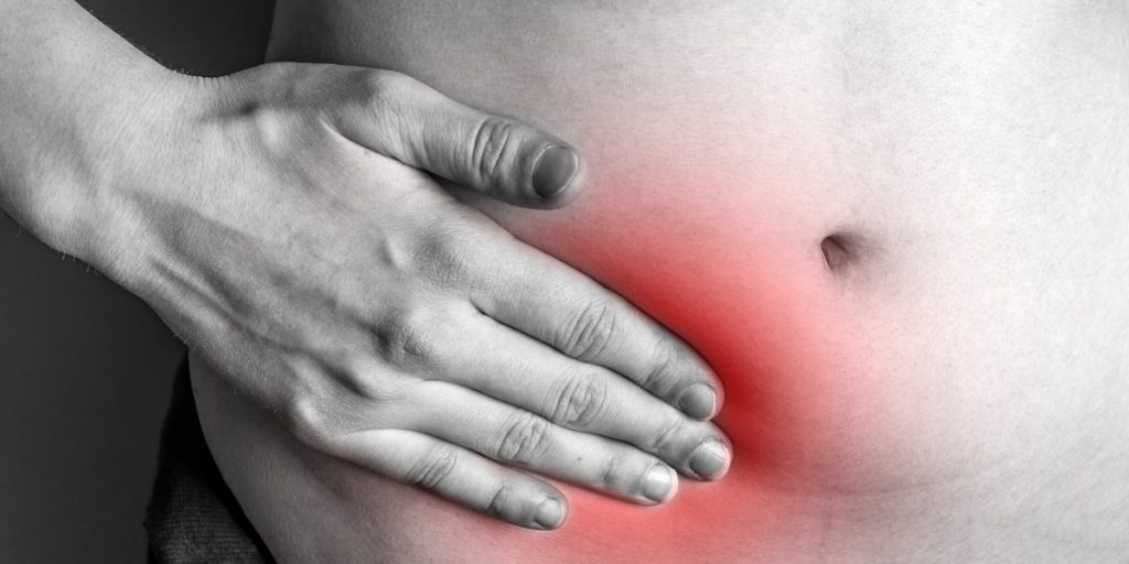 An inguinal hernia occurs when tissue, such as part of the intestine, protrudes through a weak spot in the abdominal muscles. The resulting bulge can be painful, especially when you cough, bend over or lift a heavy object.